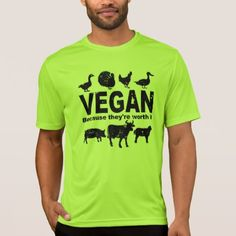 VEGAN because theyre worth it (blk) T-Shirt - mens sportswear fitness apparel sports men healthy life