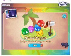 Jelly Splash no mail interface