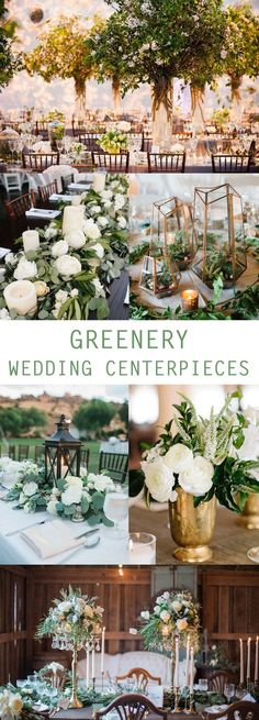 Bring your wedding to life with our nature inspired greenery wedding decor ideas!Greenery weddings were a top wedding trend in2017 and are still going strong in 2018. This wedding trend emerged fromPantone's color of the year- greenery.A cost friendly alternative to florals, greenery is not only refreshing, but al #weddingdecoration