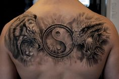 Tiger Dragon Ying Yang tattoo by Mumia Tattoo | Best Tattoo Ideas ...