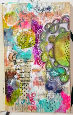 Art Journaling with the Documented Life Project, Art to the 5th and StencilGirl stencils. Project by Roben-Marie Smith.