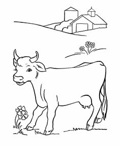 Cow Coloring page | Cute baby calf | Coloring Book Pictures ...