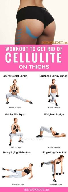 Ultimate Workout to Get Rid of #cellulite on Thighs