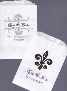 Wedding Candy Buffet Bag Favor Bags Cookie Bar by wreathartist