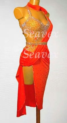 Women Ballroom Rhythm Salsa Rumba Cha Dance Dress US 6 UK 8 Gold Red Color | Clothing, Shoes & Accessories, Dancewear, Adult Dancewear | eBay!