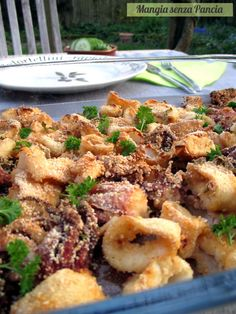 Light baked baked squid, Eat without a Belly Fish Dishes, Seafood Dishes, Seafood Recipes, Cooking Recipes, Healthy Recipes, Calamari Recipes, Light Recipes, I Love Food, My Favorite Food