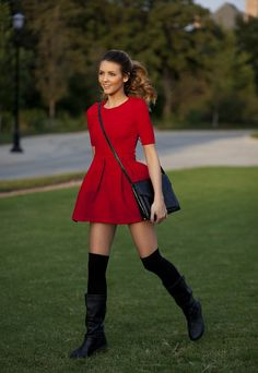 Red Dress & Boots
