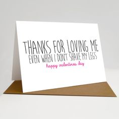 Valentines day card thanks for loving me boyfriend by SiouxAlice Valentines Day Gifts For Him, Valentine Day Cards, Happy Valentines Day, Love My Boyfriend, Boyfriend Gifts, Cute Gifts, Diy Gifts, Cadeau St Valentin, Funny Cards