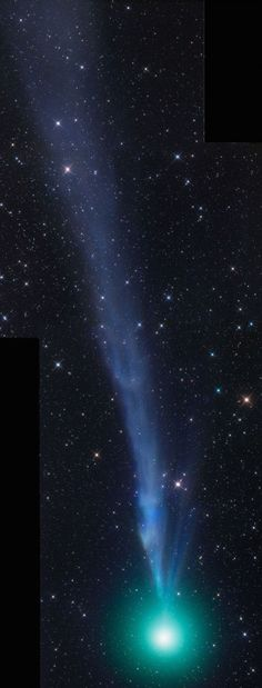 Comet Lovejoy on December 23, 2014.  Photo by Gerald Rhemann.  The wonderful New Year's comet – Comet C/2014 Q2 Lovejoy – is at its closest to Earth on January 7. It's (probably) at its brightest in our sky beginning around January 7, for the next couple of weeks...  the moon is now waning, rising an hour later each evening. You'll have a window of dark-sky viewing – from the end of twilight until moonrise – from about January 7 to 24.