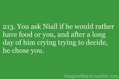 hahahahaha!!!! Awe!!!It's OK if he picked food over me, I'll still love him, maybe even more because he was staying himself around me!!!!