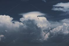 Check out Blue Clouds II by Visual Passion CO. on Creative Market