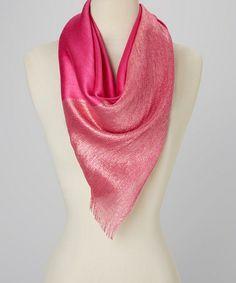 Love this Pink Shimmer Silk-Blend Scarf on #zulily! #zulilyfinds