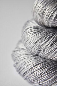 dye for yarn - light steel: silk lace yarn
