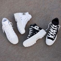 Converse Chuck Taylor All Star Lugged High Top Mode Converse, Sneakers Mode, Outfits With Converse, Sneakers Fashion, Fashion Shoes, Teen Fashion, Black Converse, Converse Men, Cool Converse High Tops