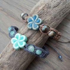 Blue Flower Bracelets