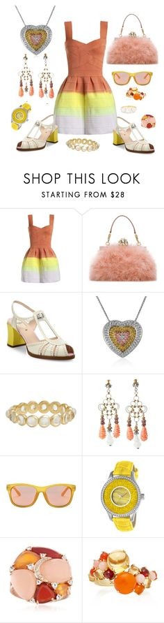 """Ombre pleasure. Not my delight"" by jeniferkcarsrud ❤ liked on Polyvore featuring Dolce&Gabbana, Fendi, Piero Milano, Irene Neuwirth, Miriam Haskell, Gucci, Invicta and Ross-Simons"