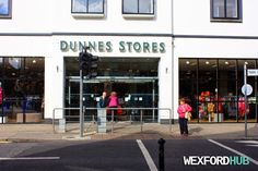 Dunnes Stores supermarket in Redmond Square, Wexford. North end of town by Westgate Tower. VILLAGE WALKS 35, WEXFORD.