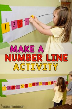 Post-It Number Line Math Activity for Preschoolers - Busy Toddler