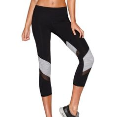 Pose in perfect style and stability with the Lorna Jane® Women's Stay Strong Fitted Capris. LJ Excel® fabric dries quickly for comfort, while a shaped, high-rise waistband with panels supports your core. Mesh inserts increase ventilation, and reflective details enhance your visibility in low light. Placed stripes and cutouts finish the look with chic style. The Lorna Jane® Stay Strong Fitted Capris help you find your inner power.