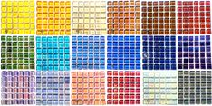 collection of Reflective tiles Mosaic Tiles, Spectrum, Mad, Collections, Glass, Color, Mosaic Pieces, Drinkware, Corning Glass
