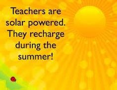 Happy recharging, #teachers!