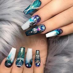 Acting is magical Change your look and your attitude and you can be anyone Alicia Witt nails magical pattern inspirational quotes manicure Beautiful Nail Designs, Beautiful Nail Art, Gorgeous Nails, Love Nails, Fun Nails, Pretty Nails, Smart Nails, Perfect Nails, Nail Art Designs