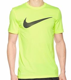 d6a12444640c0 Details about Nike Men Legend Crew Mesh Swoosh Training Athletic Cut T-Shirt  M L XL 821833-703. Yellow ...