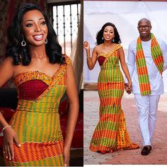 ente for the win😍😍African print still winning 💑Trudy&Aron look super gorgeous for der African Dashiki, African Wear, African Attire, African Women, African Dress, African Style, African Design, African Traditional Wedding Dress, African Wedding Dress