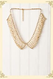 Shimmering Beaded Collar Necklace