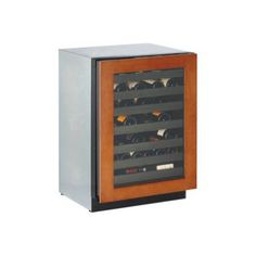 Wine Captain 43 Bottle Wine Cooler Hinge: Left, Door Panel: Wood Overlay 24 Wine Captain, left hinge, overlay. Wine Captain.  #Uline #Kitchen