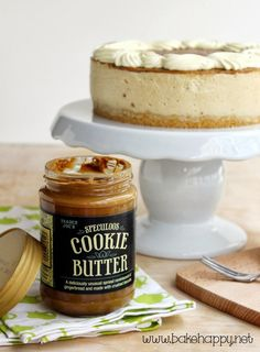 Bake Happy: No Bake Speculoos Cookie Butter Cheesecake Recipe