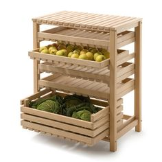 Stainless Steel Storage Tin, Beechwood Fruit and Vegetable Rack, Preserving Jars with Lids, Screw-Top Fruit-Juice Bottles.- Kitchen Storage at Manufactum Kitchen Room Design, Home Decor Kitchen, Interior Design Kitchen, Kitchen Furniture, Home Kitchens, Diy Furniture, Vegetable Storage Rack, Produce Storage, Clever Kitchen Storage