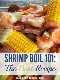 The best shrimp boil recipe is here! Along with tips and tricks for how to do a shrimp boil. The best shrimp boil recipe is here! Along with tips and tricks for how to do a shrimp boil. Seafood Boil Recipes, Shrimp Recipes, Fish Recipes, Recipe For Shrimp Boil, Seafood Meals, Seafood Paella, Shrimp Appetizers, Tapas Recipes, Cajun Recipes