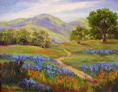 174c886563b Carmel Valley Spring by Barbara Reding Watercolor Scenery