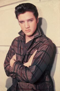 Photos of Elvis Presley.