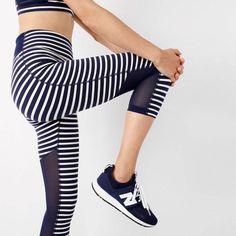 74bb370030d9a new balance® for j.crew high-waisted performance capri leggings in stripe  with mesh   women bottoms