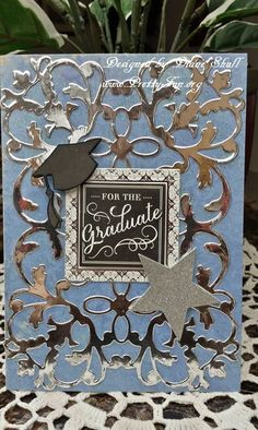 For the Graduate card designed by Diane Shull featuring Anna Griffin products.