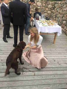 Dog Cant Make It To Wedding So Brides Dad Surprises Her With - After a stray dog crashed their wedding this couple had the best reaction ever
