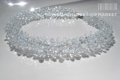 >>Iced Glass Necklace - by Petra Hamplova<<  Enjoy Uniqueness & Quality of Czech Design http://en.bohemia-design-market.com/designer/petra-hamplova