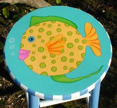 hand painted chairs, stools, benches, seating