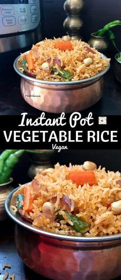 Instant Pot Vegetable Rice