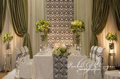 King Edward Style Head Table via Rachel A. Clingen Wedding & Event Design  #head table