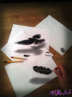 Illusion Drawings by Ramon Bruin optical illusion drawing 3d Pencil Sketches, 3d Sketch, Pencil Art, Pencil Sketching, Art Sketches, Croquis 3d, 3d Illusion Drawing, Illusion Art, 3d Drawings