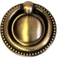 Handtag med ring ornament gammaldags antikguld mässing-färgad antik