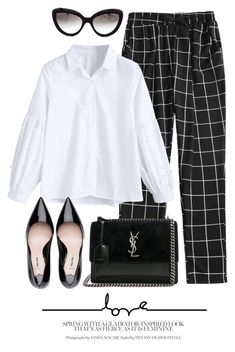 """Statement Pants"" by monmondefou ❤ liked on Polyvore featuring Prada and Yves Saint Laurent"