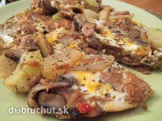 Fotorecept: Cestovinová omeleta s kalerábom