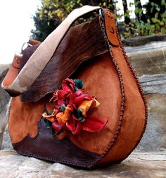 Unique of a kind, genuine leather, handmade designer bag. by - Sofisty Concept