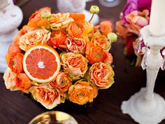 Love this because michele absolutely loves grapefruits! maybe for bridesmaid luncheon table settings ???
