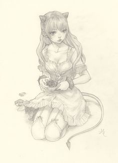 Original Pencil Drawing · JDarnell · Online Store Powered by Storenvy Anime Drawings Sketches, Pencil Drawings, Art Drawings, Character Art, Character Design, Sketch Inspiration, Animal Coloring Pages, Art Model, Colorful Drawings