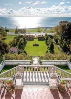 villa terrace decorative arts museum's view of the renaissance garden & lake michigan. our ceremony venue!